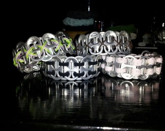 soda tab bracelet with varying bindings