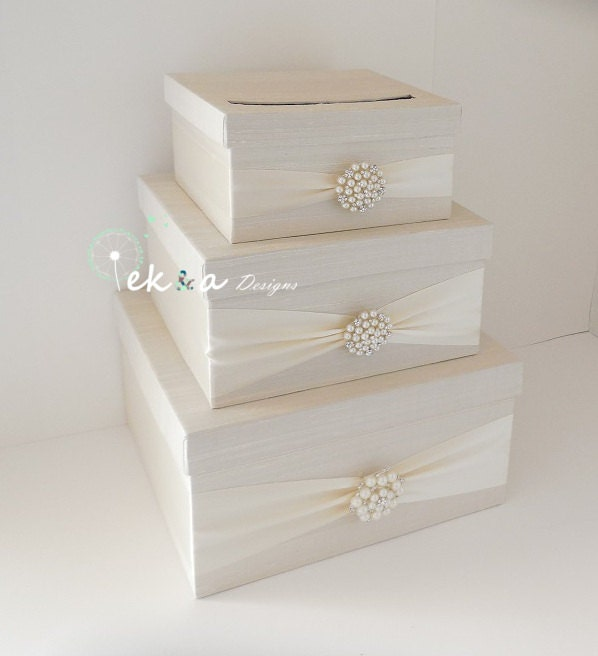 Wedding Gift Boxes For Cards : Wedding card box holder / wedding money box / wedding card