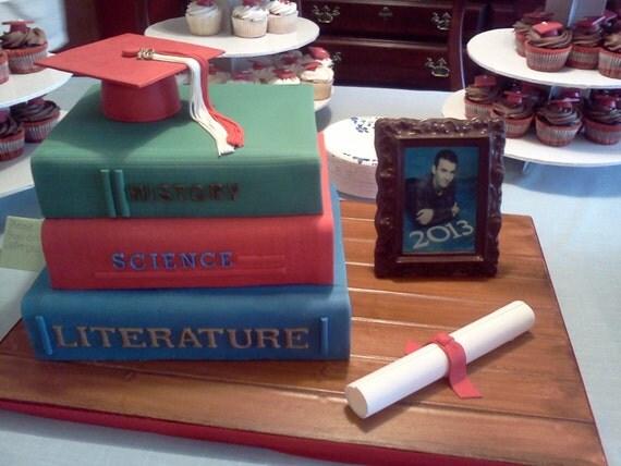 fondant graduation cap cake topper