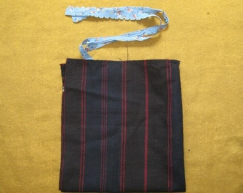 Old bulgarian hand woven wool folk apron