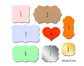 Custom labels - Custom stickers - Personalized Labels - Custom Printing - Set of 100 labels