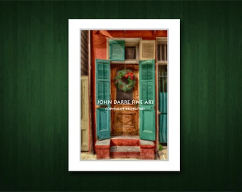 Christmas Cards, French Quarter Scenes, New Orleans, Handmade, Blank Greeting Cards, Suitable For Framing, Fine Art Cards