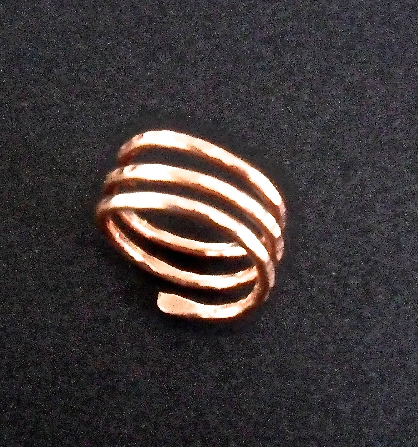 copper ring rustic hammered copper wire jewelry by dawily2