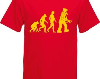 Big Bang Theory Sheldon Cooper Robot Evolution T-Shirt