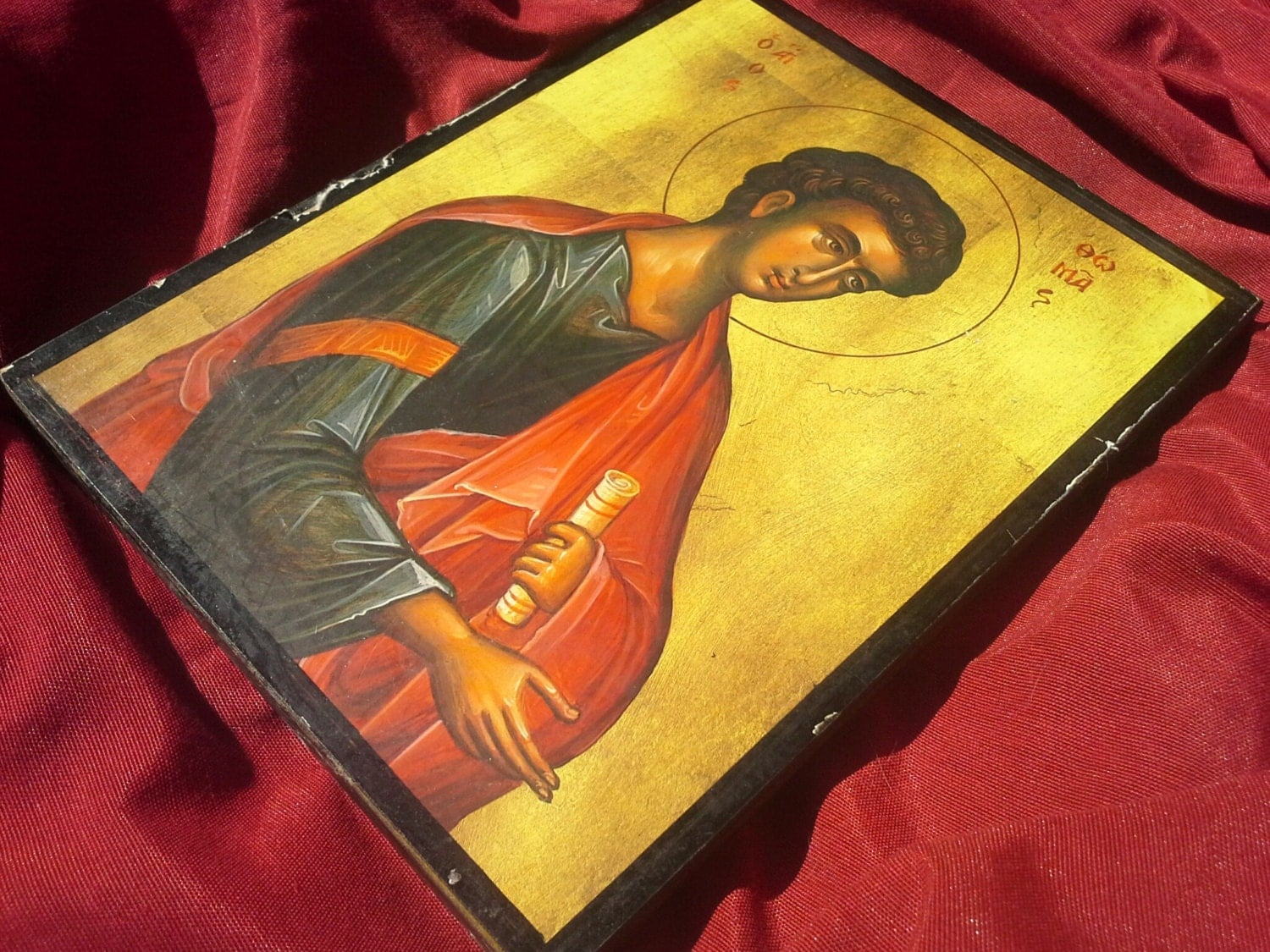 Saint Thomas the Apostle, Wooden Icon Print, Christian Orthodox Wall ...