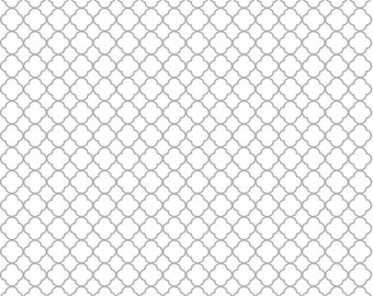 Gray quarterfoil craft  vinyl sheet, HTV, adhesive vinyl white with grey aluminum silver non-metallic clover quatrefoil pattern vinyl HTV530