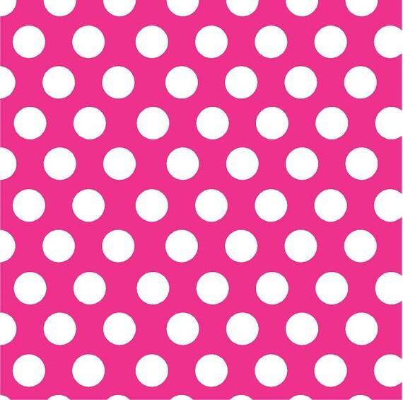 Magenta with white polka dot pattern vinyl by for Red and white polka dot pattern