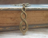 Infinity , infinity bronze, necklace infinity. Daily necklace.Gift New year.