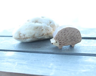 Woodland Hedgehog Wooden Waldorf Inspired Eco Friendly Natural Toy