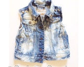 Cali Love Vest - Baby Jean Vest - Infant Denim Vest - Toddler Denim Vest