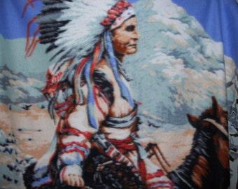 American Indian Fleece Throw