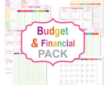 Printable budget planner PACK - printable bill tracker - printable bill organizer PDF - printable finance sheets - Instant Download