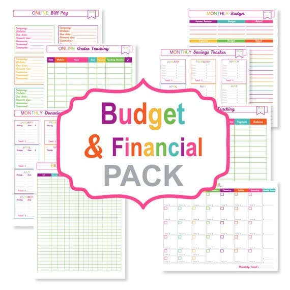 printable budget planner pack printable bill tracker. Black Bedroom Furniture Sets. Home Design Ideas
