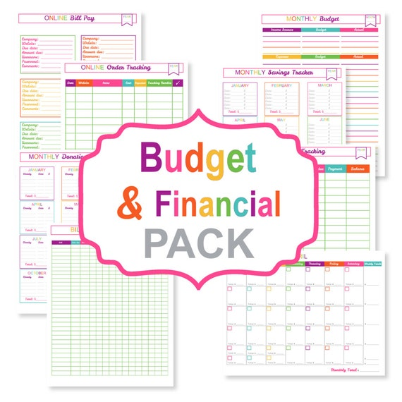 ... bill tracker - printable bill organizer pdf - printable finance sheets