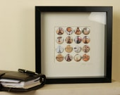 Vintage Musical Notes Badge Frame