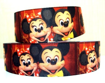 5 YDS Mickey and Minnie Ribbon