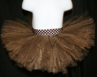 Brown Tutu Skirts, Children's Tutu Skirts, Brown Newborn to 6T Tutus, BrownTutu, Tutu, Tutu Brown