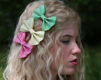 Glitter hair bows, glitter bow, sparkly hair bow, glitter hair clip, sparkly bow, glitter hair bow, party hair bow, party bow, party hair