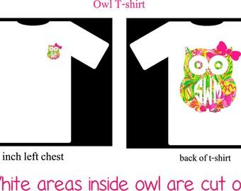Monogram Owl T-Shirt