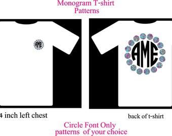 Monogram Shirt, Monogram T-Shirt with Dot Border