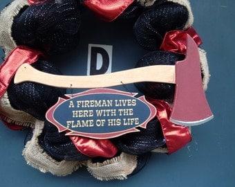 Fireman wreath