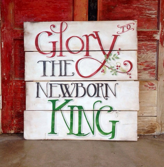 Ratings Feedback For Gavan Wood Painting Decorating: Glory To The Newborn King Wall Art Christmas By NazysNest
