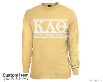 KAO Kappa Alpha Theta Custom Comfort Colors Classic Sorority Sweatshirt