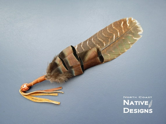 Native American Smudge Feather Fan