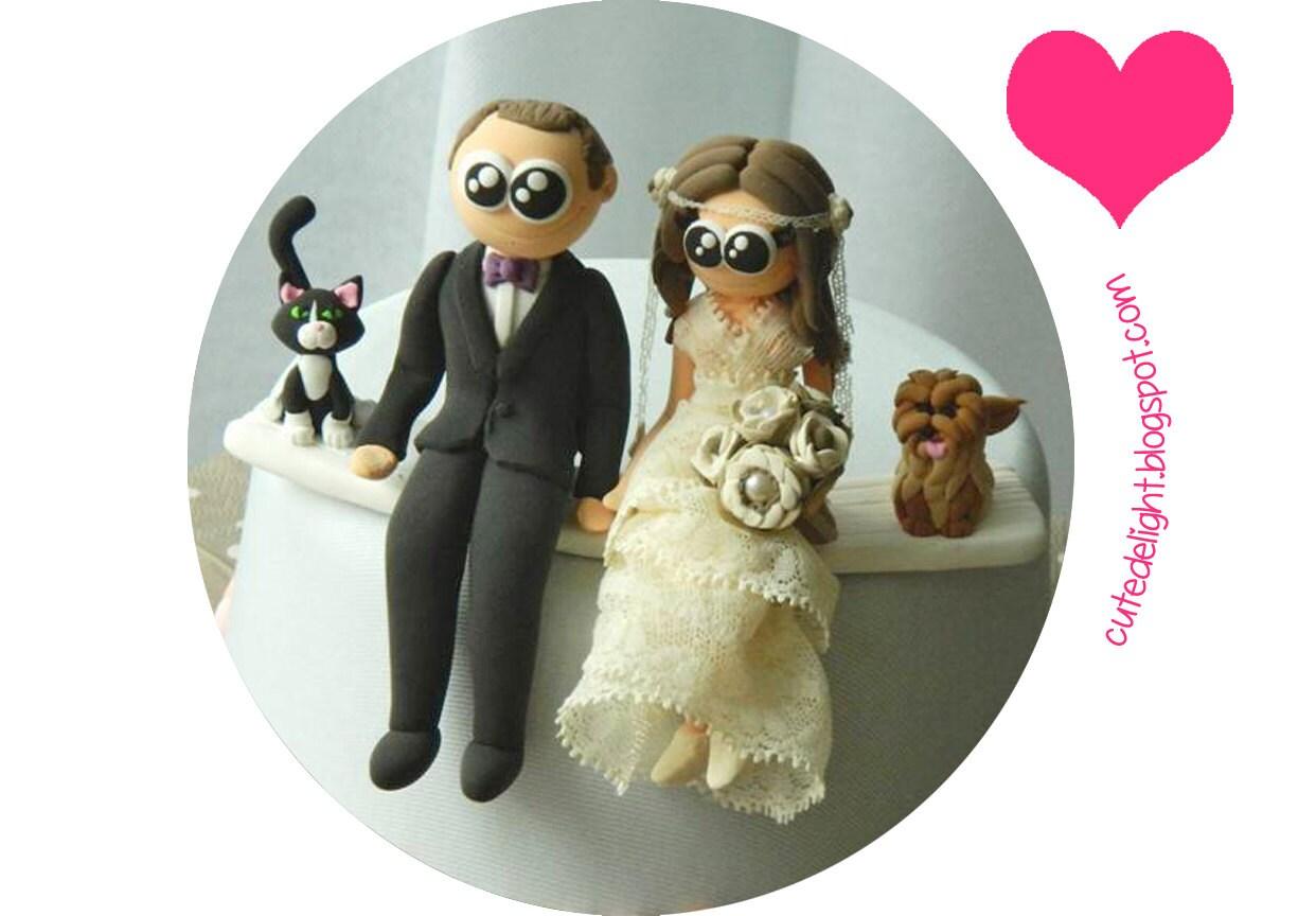 Wedding Cake Topper Family cake topper CUSTOM cake topper