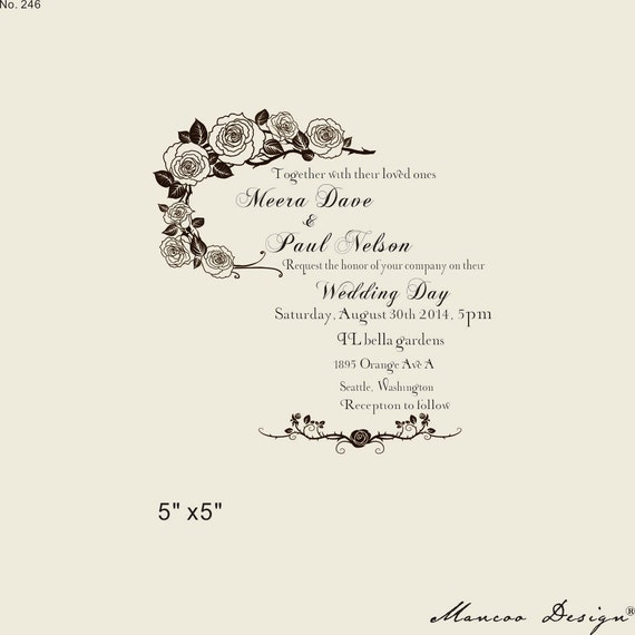 custom rubber stamp 5 5 wedding invitation rubber stamp cust