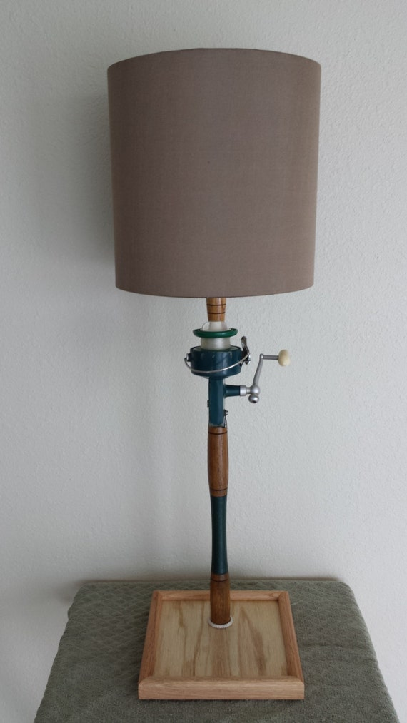 Fishing Pole Lamp Antique Fishing Pole Table Lamp Coastal
