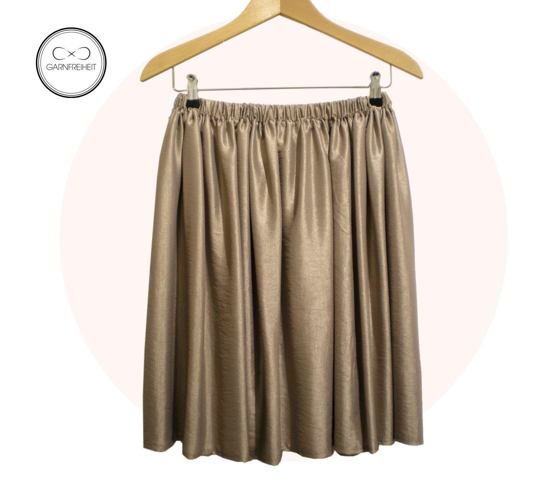 pleated skirt taupe gold by garnfreiheit on etsy