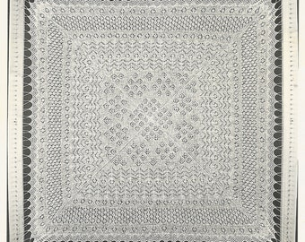 Rosemary Shawl shetland lace cobweb wool vintage baby shawl knitting pattern PDF instant download