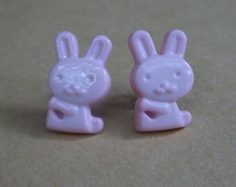 Pink Bunny Earrings, Bunny Rabbit Earrings, Easter Bunny Earrings, Easter Bunny Jewelry, Pink Bunny Rabbit Earrings, Spring Bunny Jewelry
