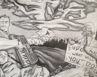 End of Days Pencil Drawing