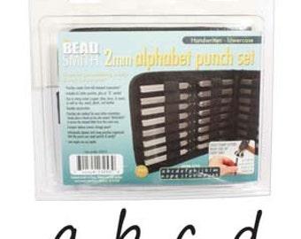 HANDWRITTEN Metal Stamp Set, Lowercase Alphabet Kit 2mm Tiny Alphabet Stamp Set Lower Case Beadsmith