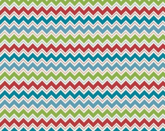 Hooty Hoot Returns, Hooty Chevron Blue, from Doohikey Designs and Riley Blake Designs