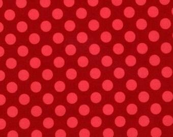 fabric michael miller tonal polka dots geranium ta dot 1 yard