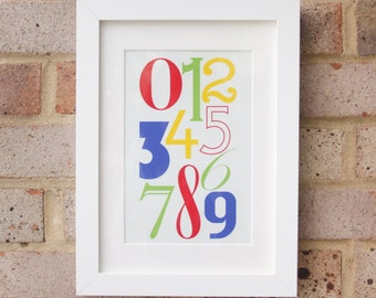 Numerals, Brights - Gicleé print