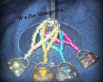 Wine Glass Charms ~ It's a Purse Thing Wine Charms