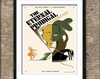 Vintage Federal Dance Theatre The Eternal Prodigal Poster Art Print different sizes available