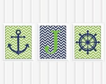 Nautical Wall Art Set, Name Wall Art, Personalized Wall Art, Printable Wall Art, Kids Wall Art, Nursery Wall Art, DIY Wall Art