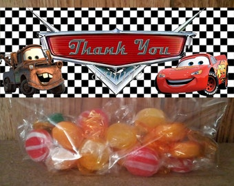 INSTANT DOWNLOAD Disney Cars treat Bag Toppers - Printable file for Birthday Party Favor or Candy Loot Bags / matches Disney Cars invitation