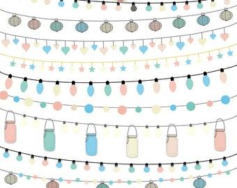 String Lights Clipart Color Wedding Invitation Clipart