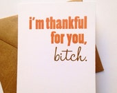 Thanks Card / Funny Friend Card / Friend Gift / Best Friend / Thinking of You / Expressing Gratitude