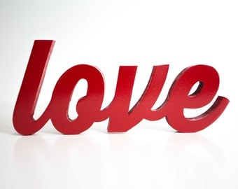 Handcrafted Love Wood Word Art
