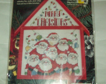 Santa counted cross stitch kit