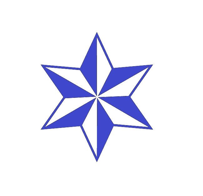 Pointed Nautical Star Six point star decal