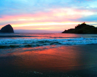 Pacific City (Haystack Sunset)
