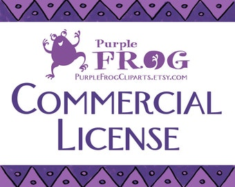 Commercial License for PurpleFrogCliparts